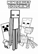 Minecraft Coloring Mob Enderman Colouring Sheets Colour Printable Activity Printables Guests sketch template