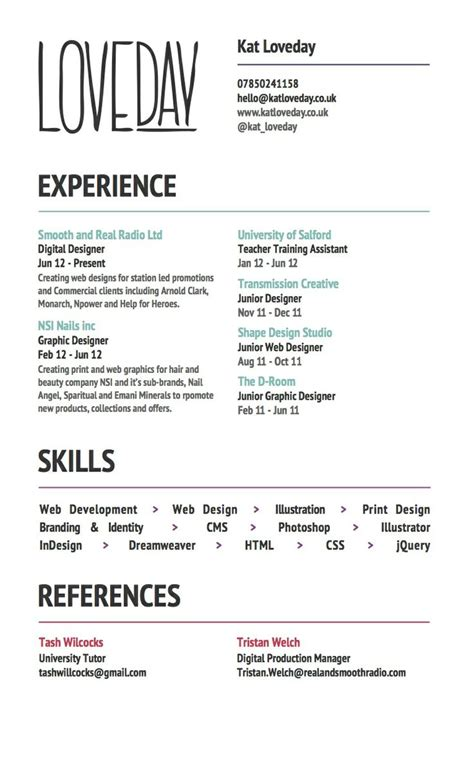 14824 simple creative resume 75 best images about cv on cool resumes fonts
