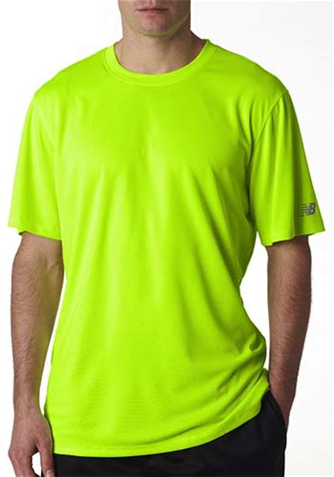 safety green color wholesale new balance mens custom athletic shirts n7118