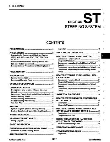 download car manuals 2003 infiniti i parental controls 2011 infiniti m37 steering system section st pdf manual 87 pages