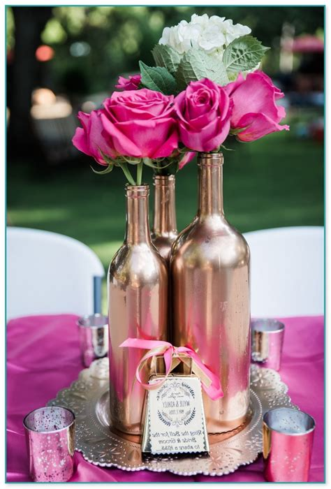 glass bottles  wedding decorations