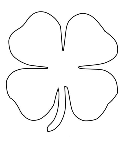 leaf clover coloring pages getcoloringpagescom