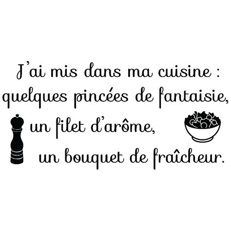 citation cuisine amour sticker citation j 39 ai mis dans ma cuisine stickers