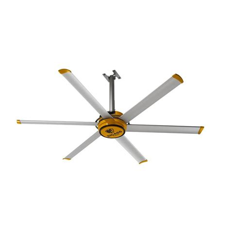 big fans 2025 7 ft yellow and silver aluminum shop