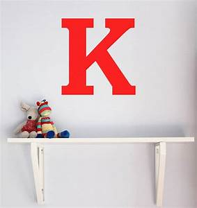 Letter decals for walls roselawnlutheran for Large letter k wall decor