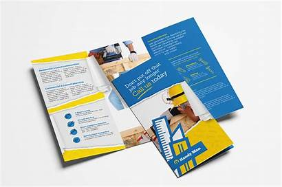 Brochure Cleaning Templates Commercial Template Handyman Tri