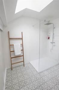 salle de bain carreaux de ciment douche en corian b With porte d entrée alu avec carreaux ciment salle de bain