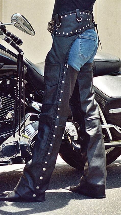 custom studded leather biker chaps baddasschapscom