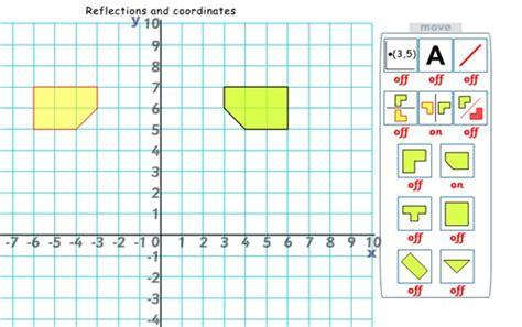 reflections coordinates active maths maths zone cool