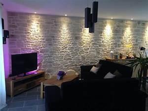 Decoration Mur Interieur Salon : enduit decopierre interieur loir et cher enduit deco centre ~ Teatrodelosmanantiales.com Idées de Décoration