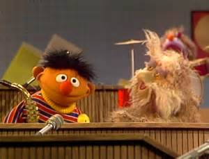Sesame Street Ernie Puts Down the Duckie