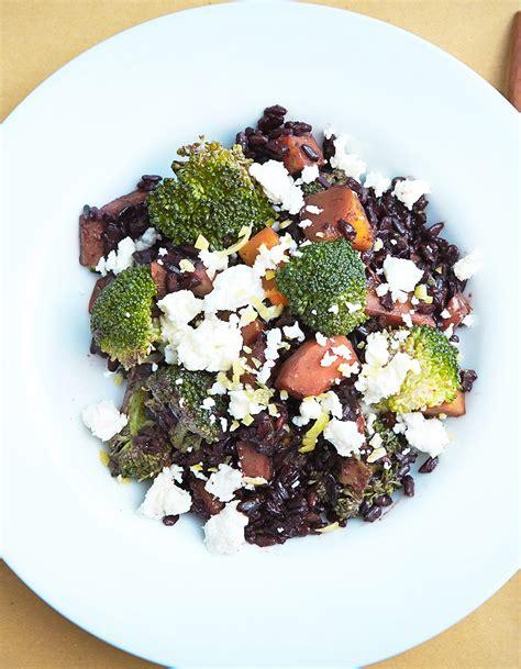 astuce cuisine rapide riz noir venere potimarron brocoli et feta de marco bianchi pour 4 personnes recettes à