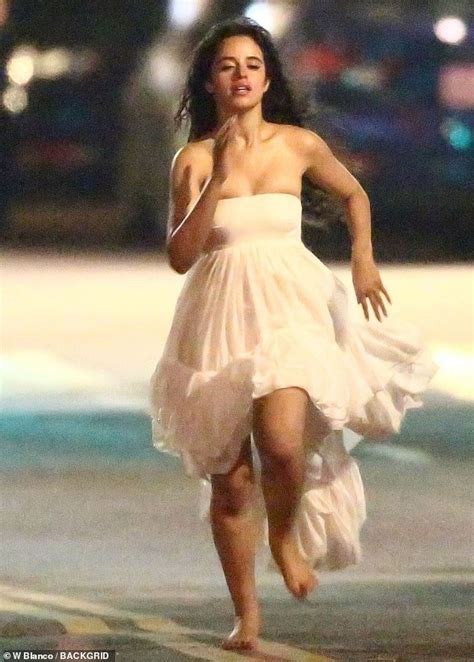 Camila Cabello Goes Barefoot Flowing Gown For Music