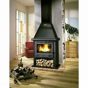 Cheminée à Bois : poele a bois cheminee godin cantou 13kw buche70cm pole ~ Premium-room.com Idées de Décoration