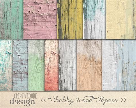 Shabby Chic Holz by Shabby Chic Wood Digital Paper Graphic Patterns