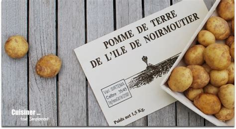 comment cuisiner les pommes de terre de noirmoutier concours de recettes primeur de noirmoutier quot saveurs entre terre et mer quot cuisiner tout
