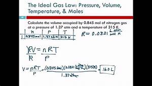 11 8 The Ideal Gas Law  Pressure  Volume  Temperature