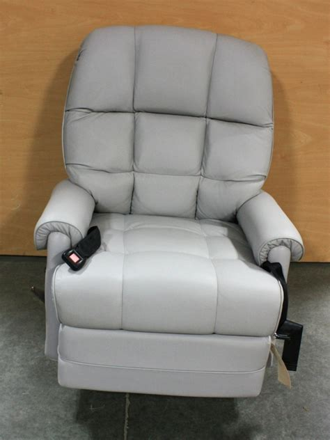 rv furniture used rv gray leather recliner for sale rv