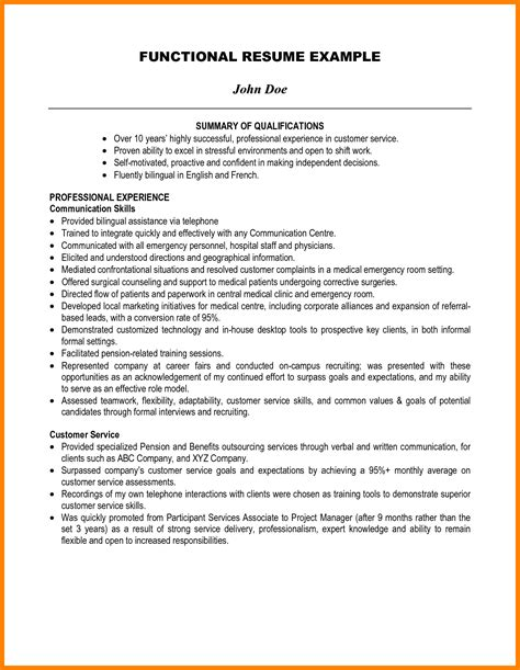 Chronological Resume Summary Of Qualification by 6 Summary Of Qualification Resume Exles Ledger Review