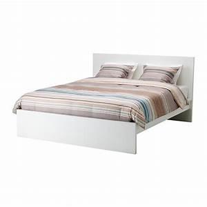 Lit Ikea 140x200 : malm cadre de lit haut 140x200 cm blanc ikea ~ Teatrodelosmanantiales.com Idées de Décoration