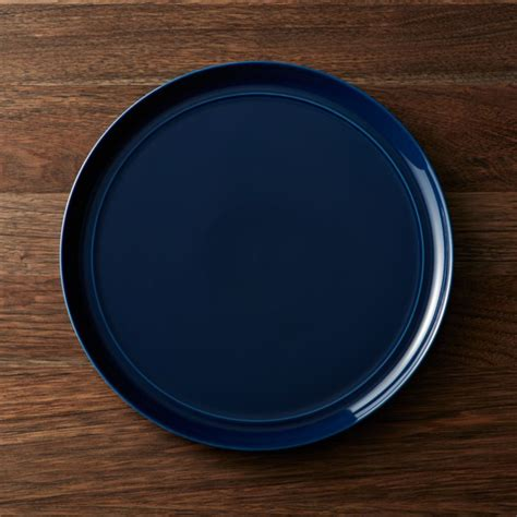 hue navy blue dinner plate crate  barrel