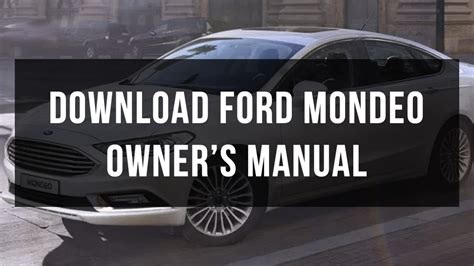ford mondeo owners  service manual