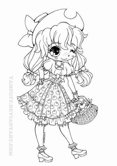 Yampuff Coloring Deviantart Lolita Pages Applejack Anime