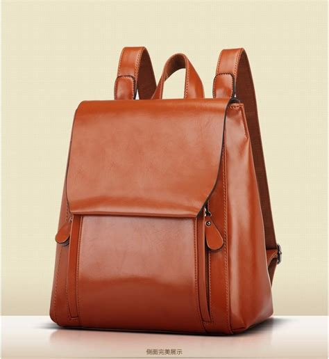 Leather Backpack Womens Backpacks Eru