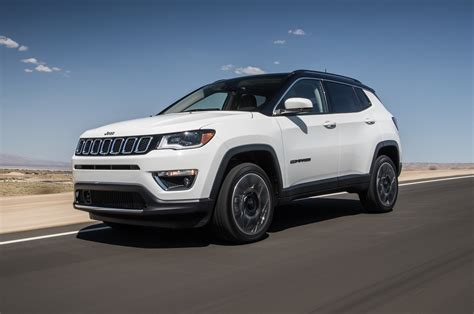 jeep compass side 2017 jeep compass limited and trailhawk first test review