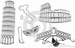 Famous Landmarks Of Italy Royalty Free Stock Image - Image ...