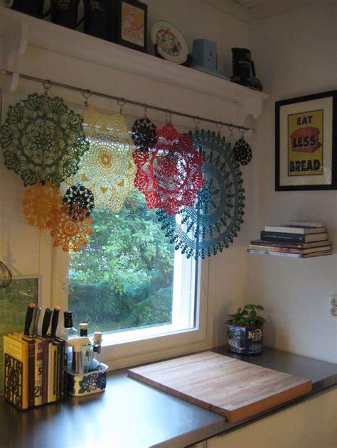 doily window treatments crochet home crochet curtains