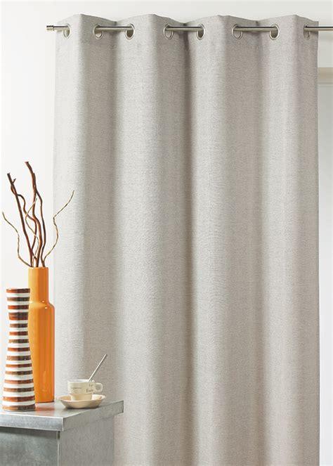 rideau isolant thermique rideau en toile effet isolant thermique naturel ivoire taupe gris homemaison