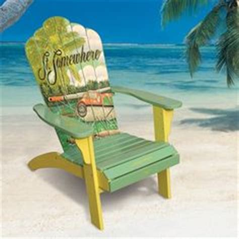 tropical adirondack chair handcrafted painted