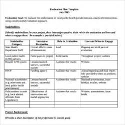 Sample Evaluation Plan Template