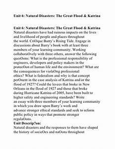 Essay on natural hazards