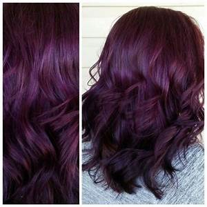 Dark Mahogany Violet Hair Color