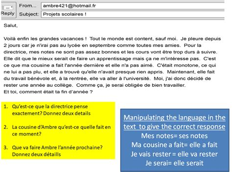 wordy questions gcse french aqa revision study rocket