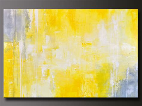 abstract in yellow 13 abstract acrylic painting