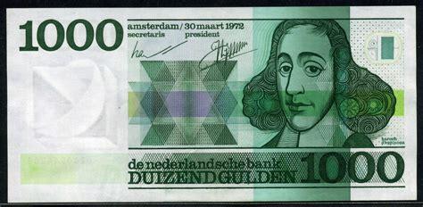 netherlands banknotes  gulden note baruch spinoza