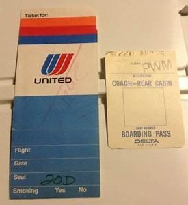 Details about Vintage 1974 United Airlines ticket jacket ...