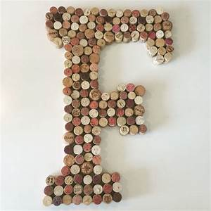 wine cork letter f cork pojects pinterest wine cork With letter wine