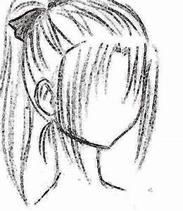 Drawn ponytail anime - Pencil and in color drawn ponytail ...