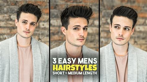 easy mens hairstyles short medium length hair