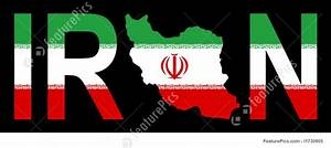 Illustration Of Iran With Map On Flag