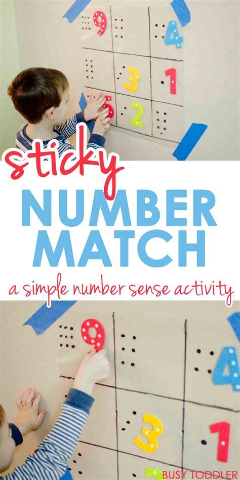 sticky number match busy toddler 664 | numbermatch9