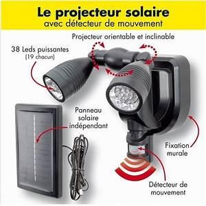 Lampe Exterieur Detecteur De Mouvement : lampe double projecteur solaire orientable 38 l achat ~ Dallasstarsshop.com Idées de Décoration