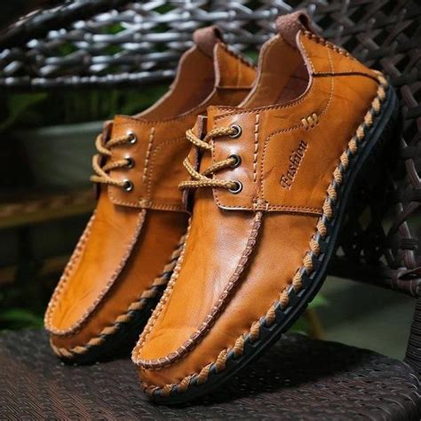 Shoes New Fashion Men Cow Split Leather Luckum