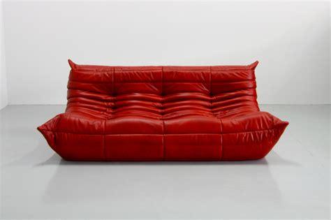 canap ligne roset vintage leather togo sofa by michel ducaroy for ligne