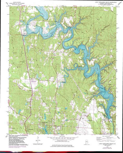 Lake Tuscaloosa South Topographic Map Al Usgs Topo Quad