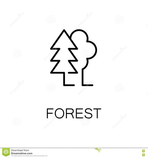 forest flat icon  logo  web design stock vector